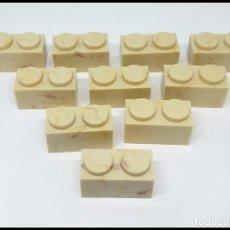 Juguetes antiguos Exin: LOTE 10 PIEZAS BLOQUE 1X2 EXIN CASTILLO POPULAR JUGUETES. Lote 173870164