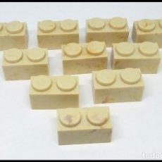 Juguetes antiguos Exin: LOTE 10 PIEZAS BLOQUE 1X2 EXIN CASTILLO POPULAR JUGUETES. Lote 173870260