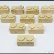 Juguetes antiguos Exin: LOTE 10 PIEZAS BLOQUE 1X2 EXIN CASTILLO POPULAR JUGUETES. Lote 173870380