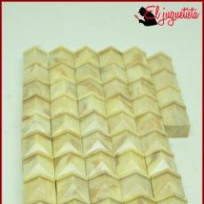Juguetes antiguos Exin: ORTYUK - EXIN CASTILLOS - REMATE BLOQUE LADRILLO CUBO BISELADO DIAMANTE 1X1 X54. Lote 175309692
