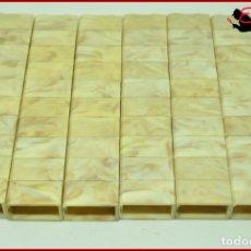 Juguetes antiguos Exin: ORTYUK - EXIN CASTILLOS - BLOQUE LADRILLO 1X2 BISELADO X60. Lote 175310497