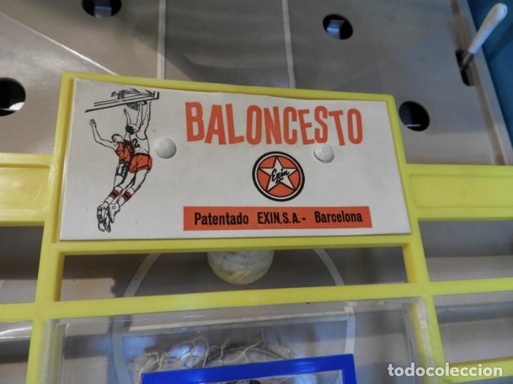 Juguetes antiguos Exin: JUEGO DE BALONCESTO EXIN BASQUET FUNCIONA CORRECTAMENTE - Foto 8 - 178732368