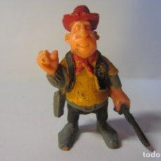 Juguetes antiguos Exin: EXIN WEST OESTE FIGURA SHERIFF SOMBRERO ROJO 1. Lote 179405223