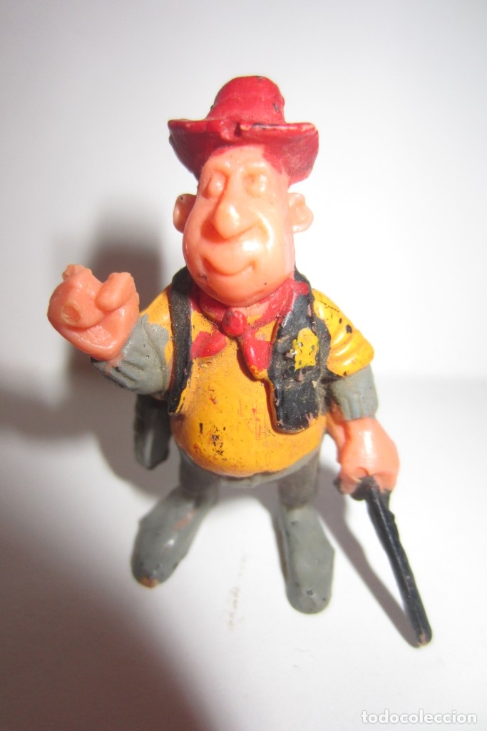 Juguetes antiguos Exin: Exin West Oeste Figura Sheriff Sombrero Rojo 1 - Foto 4 - 179405223