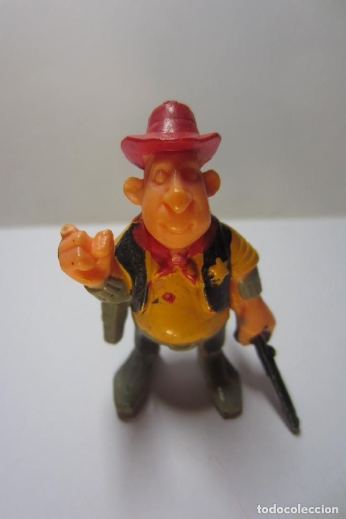 EXIN WEST OESTE FIGURA SHERIFF SOMBRERO ROJO 2 (Juguetes - Marcas Clásicas - Exin)