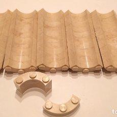Brinquedos antigos Exin: EXIN CASTILLOS ORIGINAL , LOTE DE PIEZAS CURVAS 3 PUNTOS. Lote 182343397