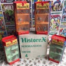 Juguetes antiguos Exin: CAJA HISTOREX CON 4 UNIDADES COMPLETAS ELASTOLIN. Lote 183086382
