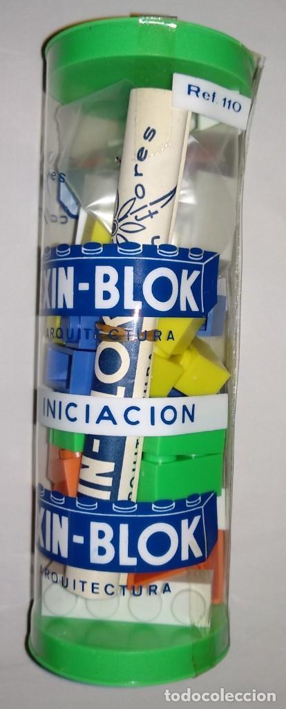 Juguetes antiguos Exin: TUBO ARQUITECTURA EXIN BLOK INICIACION COMPATIBLE CASTILLOS - Foto 2 - 186147743