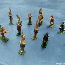 Juguetes antiguos Exin: LOTE DE 13 FIGURAS EXIN CASTILLOS AÑOS 70. Lote 186350067