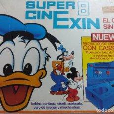 Juguetes antiguos Exin: SUPER 8 CINEXIN/EL CINE SIN FIN/EN CAJA CON 2 PELICULAS.. Lote 187182140