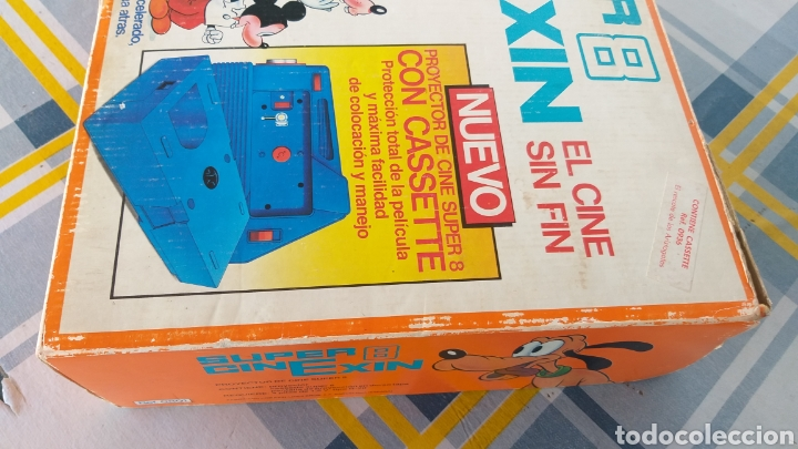 Juguetes antiguos Exin: SUPER CINEXIN AZUL CINE EXIN CON PELÍCULA. CINEEXIN SUPER 8 - Foto 4 - 253894895