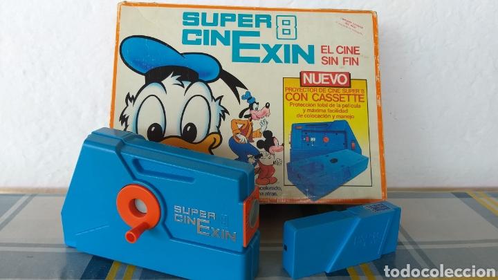 SUPER CINEXIN AZUL CINE EXIN CON PELÍCULA. CINEEXIN SUPER 8 (Juguetes - Marcas Clásicas - Exin)