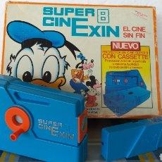 Juguetes antiguos Exin: SUPER CINEXIN AZUL CINE EXIN CON PELÍCULA. CINEEXIN SUPER 8. Lote 253894895