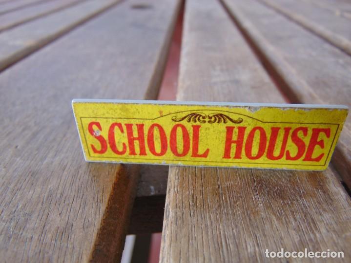 PIEZA ACCESORIO DE EXIN WEST EXINWEST LETRERO SCHOOL HOUSE (Juguetes - Marcas Clásicas - Exin)