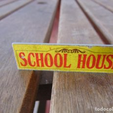 Juguetes antiguos Exin: PIEZA ACCESORIO DE EXIN WEST EXINWEST LETRERO SCHOOL HOUSE . Lote 191632633