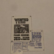 Jouets anciens Exin: EXINWEST PEGATINA CARTEL WANTED, EXIN WEST. Lote 192757213