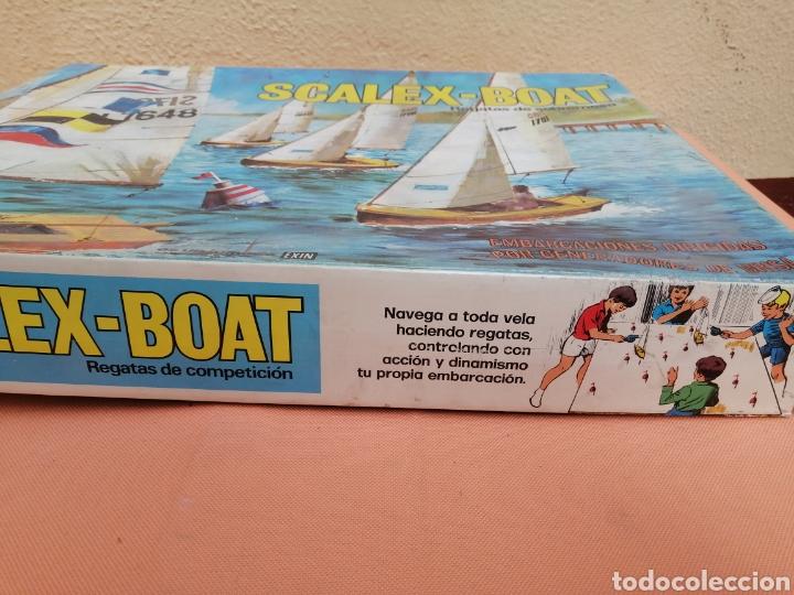 Juguetes antiguos Exin: Scalex-boat ragatas de sobremesa - Foto 2 - 193939330