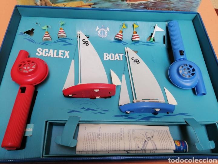 Juguetes antiguos Exin: Scalex-boat ragatas de sobremesa - Foto 3 - 193939330