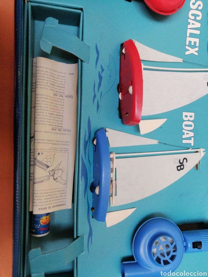 Juguetes antiguos Exin: Scalex-boat ragatas de sobremesa - Foto 6 - 193939330