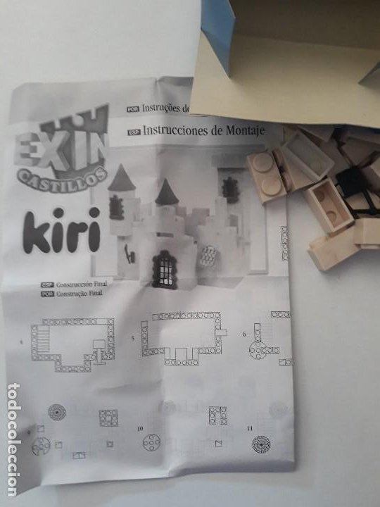 Juguetes antiguos Exin: Pequeña caja obsequio. Exin Castillos promoción de quesitos KIRI. Número 4 de 5 modelos. - Foto 6 - 194241463