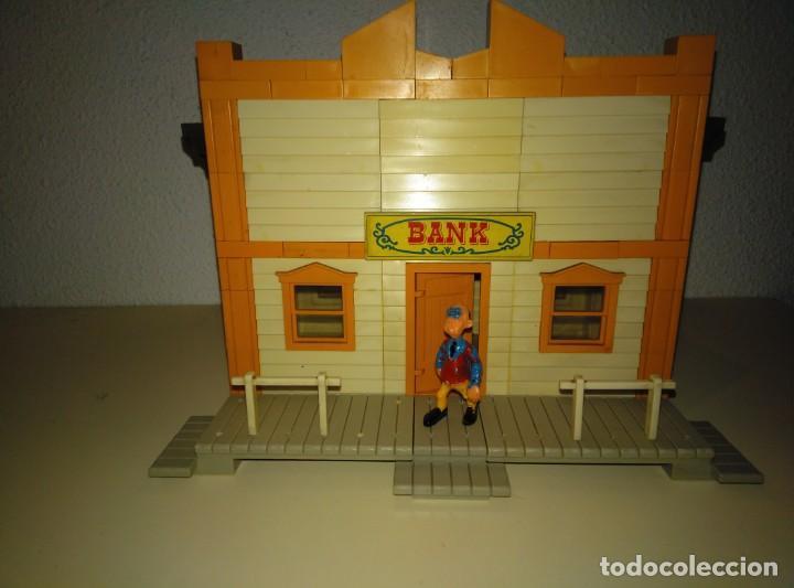 EXIN WEST. MODELO BANK CON PERSONAJE (Juguetes - Marcas Clásicas - Exin)