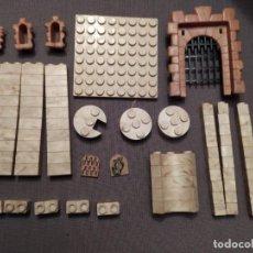 Juguetes antiguos Exin: LOTE 90 PIEZAS VARIADAS EXIN CASTILLOS . Lote 194381352