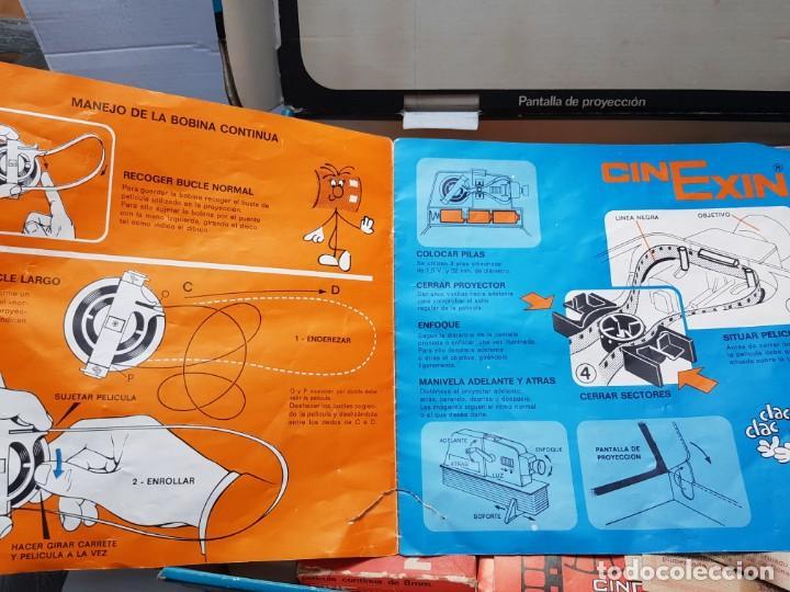 Juguetes antiguos Exin: Cinexin 8 mm en caja original y manual con varias películas - Foto 2 - 194882093
