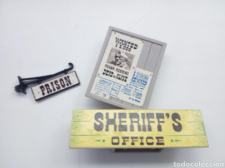 EXIN WEST. LOTE PIEZAS OFICINA DEL SHERIFF. (Juguetes - Marcas Clásicas - Exin)