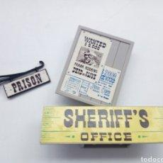 Juguetes antiguos Exin: EXIN WEST. LOTE PIEZAS OFICINA DEL SHERIFF.. Lote 195191406