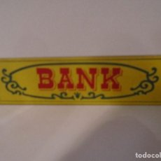 Juguetes antiguos Exin: EXIN WEST CARTEL BANK PIEZA ORIGINAL (G) 85. Lote 195492912