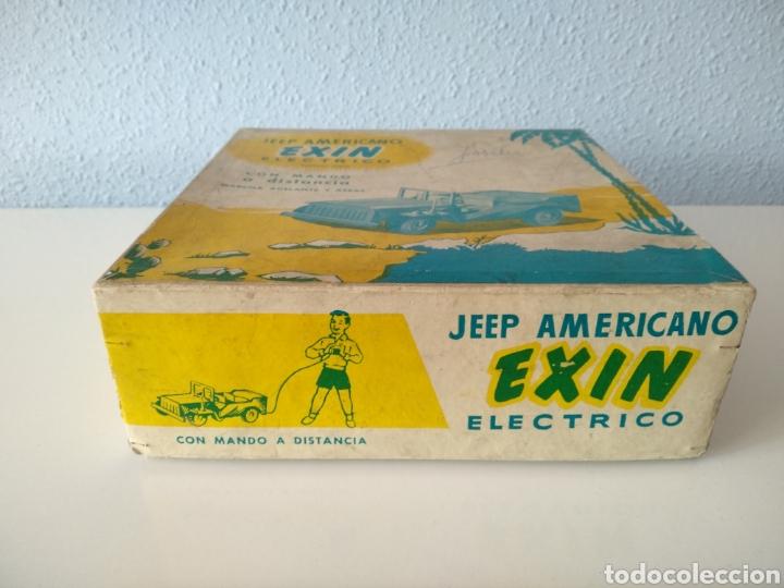 Juguetes antiguos Exin: EXIN, ANTIGUO JEEP AMERICANO ELECTRICO, CON CAJA - Foto 7 - 196280547