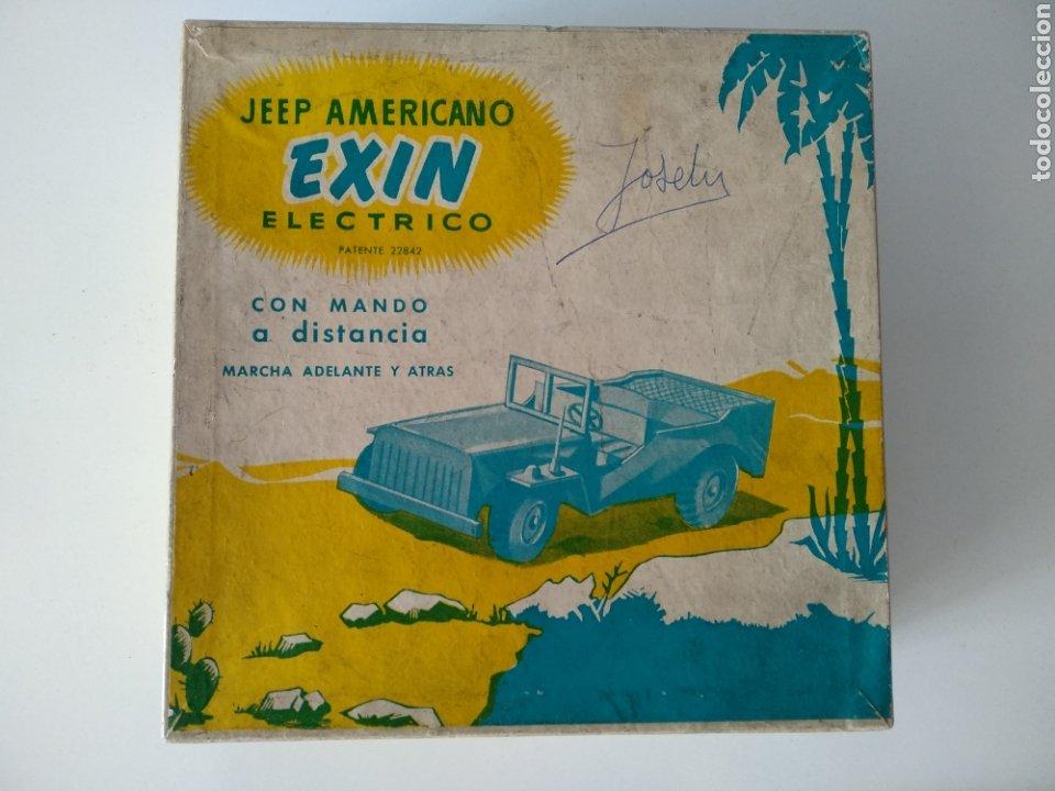 Juguetes antiguos Exin: EXIN, ANTIGUO JEEP AMERICANO ELECTRICO, CON CAJA - Foto 8 - 196280547