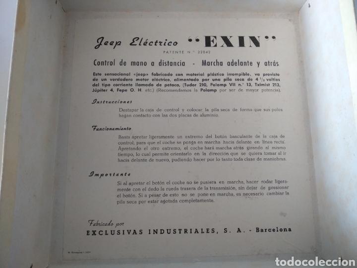 Juguetes antiguos Exin: EXIN, ANTIGUO JEEP AMERICANO ELECTRICO, CON CAJA - Foto 6 - 196280547