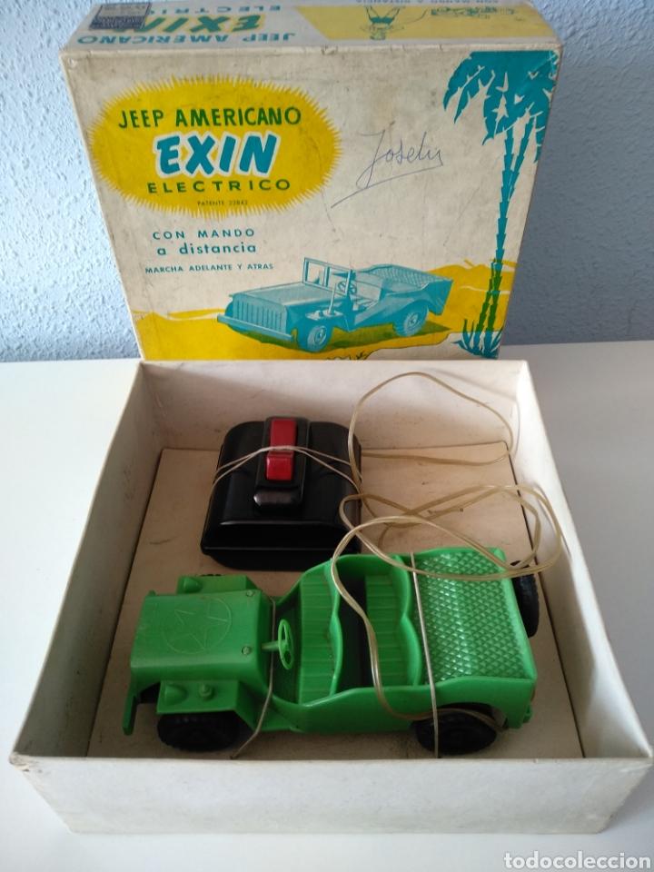 EXIN, ANTIGUO JEEP AMERICANO ELECTRICO, CON CAJA (Juguetes - Marcas Clásicas - Exin)