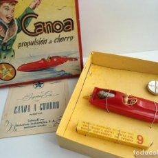 Juguetes antiguos Exin: CANOA PROPULSION A CHORRO - EXIN AÑOS 60 - EN CAJA ORIGINAL CON INSTRUCCIONES - RARISIMO. Lote 197775106