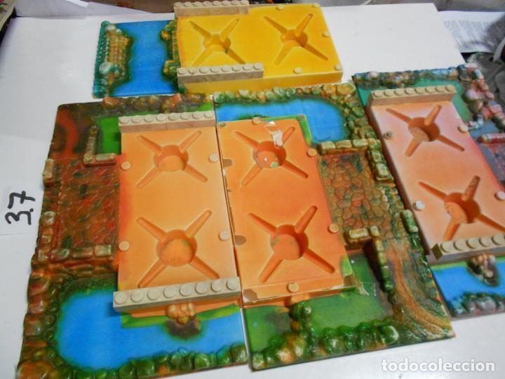 Juguetes antiguos Exin: GRAN LOTE ANTIGUO EXIN CASTILLO CON INSTRUCCIONES, BASES, MUCHAS PIEZAS Y FIGURAS DIVERSAS - Foto 2 - 200741315
