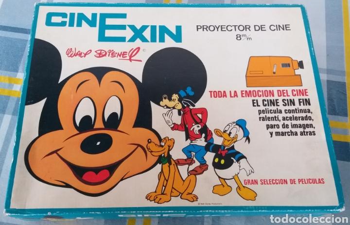 Juguetes antiguos Exin: CINEXIN NARANJA 8 PROYECTOR DE CINE SIN FIN EXIN AÑOS 70 EN BUEN ESTADO CON TRES PELÍCULAS - Foto 21 - 202265163
