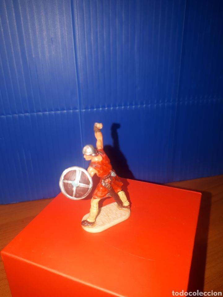 Juguetes antiguos Exin: EXIN CASTILLOS Vikingo, guerreros medievales de elastolin Historex, serie 4 cms. - Foto 2 - 203304082