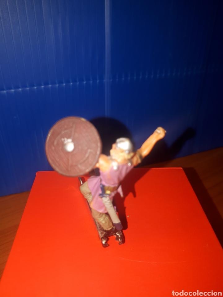 Juguetes antiguos Exin: EXIN CASTILLOS Vikingo, guerreros medievales de elastolin Historex, serie 4 cms. - Foto 2 - 203304681