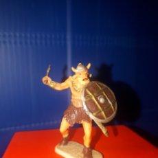 Juguetes antiguos Exin: EXIN CASTILLOS VIKINGO, GUERREROS MEDIEVALES DE ELASTOLIN HISTOREX, SERIE 4 CMS.. Lote 203304966