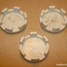 Juguetes antiguos Exin: 3 TORREONES GRANDES REDONDOS DE EXIN CASTILLOS. Lote 205590568