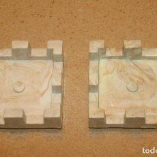 Juguetes antiguos Exin: 2 TORREONES CUADRADOS GRANDES DE EXIN CASTILLOS. Lote 205591261