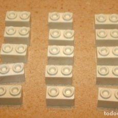 Juguetes antiguos Exin: 15 BLOQUES 2X1 BISELADOS DE EXIN CASTILLOS. Lote 205593176