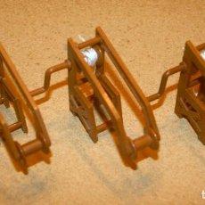 Juguetes antiguos Exin: 3 GRUAS DE EXIN CASTILLOS. Lote 205594490