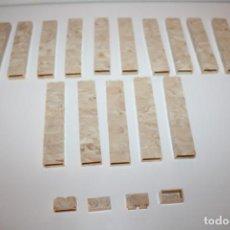 Juguetes antiguos Exin: 154 PIEZAS VETEADAS MARMOL EXIN CASTILLOS 2X1 - AÑOS 70. Lote 206249617