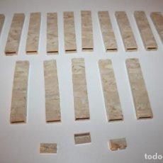 Juguetes antiguos Exin: 153 PIEZAS VETEADAS MARMOL EXIN CASTILLOS 2X1 - AÑOS 70. Lote 206249943