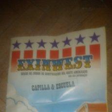 Juguetes antiguos Exin: CAPILLA ESCUELA. INSTRUCCIONES EXIN WEST. VER FOTOS.. Lote 207042498