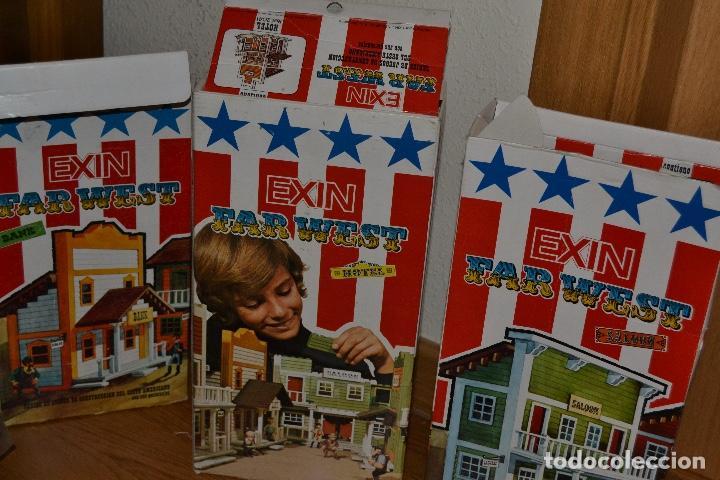 Juguetes antiguos Exin: Lote de Exin WEST BANCO HOTEL SALOON OFICINA SHERIF Exinwest NO EXIN CASTILLOS ORIGINAL AÑOS 70 80 - Foto 9 - 207405231