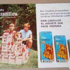 Juguetes antiguos Exin: FOLLETO DE EXIN CASTILLOS Y EXIN ASTRO.. Lote 208122182