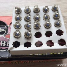Juguetes antiguos Exin: LOTE DE 17 BOMBILLAS DE LINTERNA GOTA LENTE 3,7V 0,3 A VALIDAS PARA PROYECTOR CINEXIN. Lote 218427121